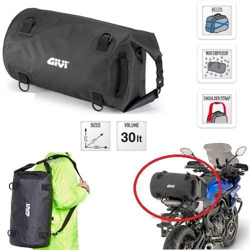 Compatibel met YAMAHA X MAX 250 MOMO DESIGN tas voor motorfiets scooter GIVI EA114BK 30LT waterdicht universeel 27 cm x 27 cm x 50 cm 2 KINGHIE VOOR FISSUNG