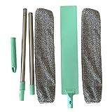 Vaugan Cepillo para el polvo de cama, fregona de mango largo, cepillo de microfibra reutilizable, herramientas de limpieza