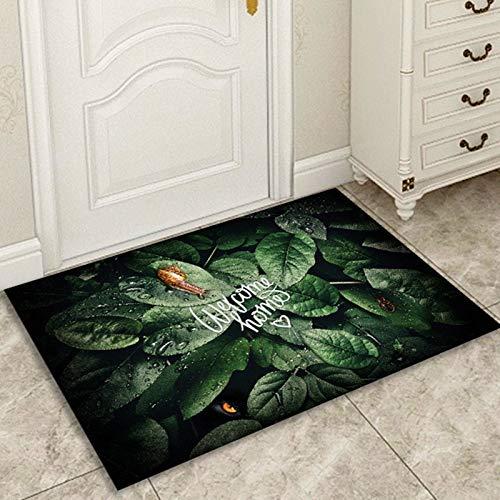 OPLJ Alfombrillas Modernas con Estampado Floral geométrico Alfombras de Bienvenida para alfombras Antideslizantes Dormitorio Cocina Alfombra de baño Salas de Estar A4 40x60cm + 40x120cm