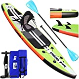 Stand up paddle Gonflable SUP Board Stand Up Paddle Board, siège kayak, pad intégré, 3 ailes,...