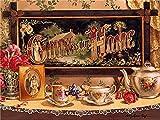5D diamante pintura cocina completo redondo diamante bordado flor mosaico taza costura regalo decoración del hogar A3 50x70cm