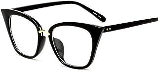 FRGTHYJ - FRGTHYJ Gafas Gafas de Sol Elegantes para Mujer Gafas de Sol con bisagra de Metal Bisagra de Metal Decoración de uñas Gafas ópticas Marco UV400 Gafas Negras para Mujeres