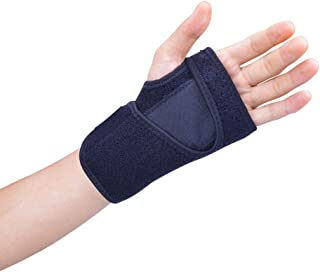 Carpal Tunnel Wrist Brace, Hamkaw Adjustable Wrist Support Sleep Brace for Men and Women- Elastic & Breathable, Black Wrist Pain Relief for Tunnel Arm Thumb Arthritis Tendonitis Wrist Sleeve