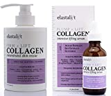Elastalift Collagen Firming Cream with Lifting and Plumping Collagen Facial Serum. Anti-Aging Collagen Cream for Body Plumps Sagging Skin. Anti-Wrinkle Serum Moisturizes Face. 15 Fl Oz and 1.7 Fl Oz.