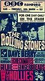 The Rolling Stones Konzert-Poster, Nachdruck, 29 x 42 cm,