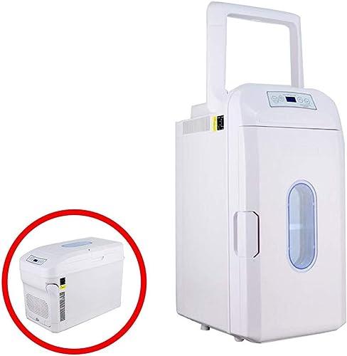 Kievy Mini réfrigérateur électrique portatif 35 litres, réfrigérateur portatif à Deux noyaux pour la réfrigération avec des roulettes, Voiture 12v   24v   Maison 220v et Camping