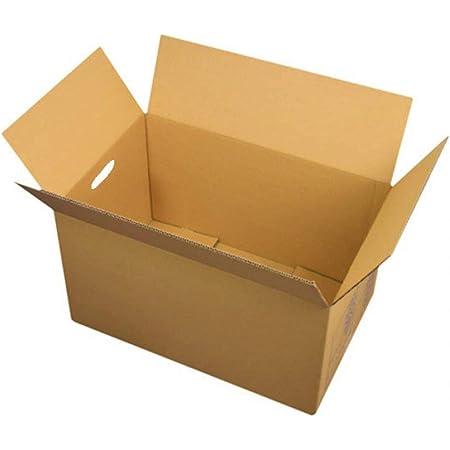 lot de 10 boites en carton marron 55x35x30 cm pour déménagement, envoi ou stockage. Carton haute résistance jusqu'à 20 kg avec poignée intégrées, adaptées au port de charge lourde.