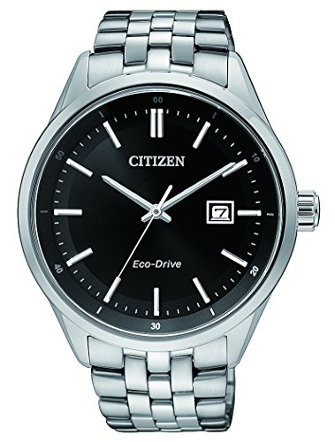 CITIZEN Herren Analog Quarz Uhr mit Edelstahl Armband BM7251-88E