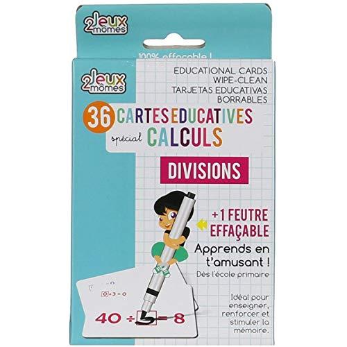 Jeux 2 mômes 36 Cartes éducatives mathématique - Division