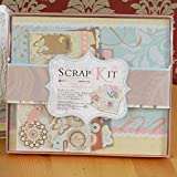 apromay Baby Scrapbook Album, DIY Scrapbook Kit Gift Set Valentine Photo Album, Cumpleaños de Boda