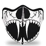 WINDMASK Neopren Biker Motorrad Maske Sturmmaske Skimaske - Skull Face Totenkopf #114