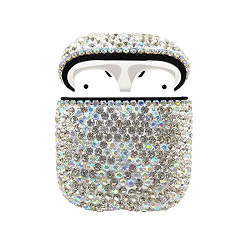 Coque Strass AirPods, Diamant de Protection Bling Diamants AirPod Coque de Protection pour Apple I10 / I12 TWS (Silver Diamond)