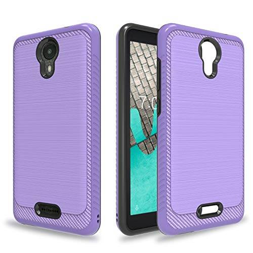 Ayoo:Wiko Ride Case,AT&T Radiant Core Case,Cricket Icon Case,Wiko Ride U300 Case,BLU Wiko Ride W-U300 Case,Brushed Texture Full-Body Shockproof Protective Cover Design for Wiko Ride-HLS Purple