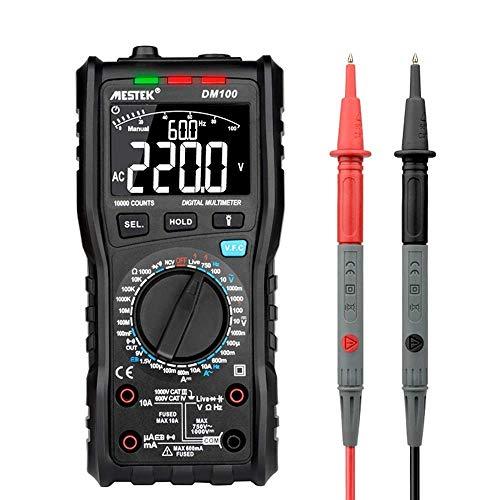 Meter Präzises Instrument DM100 10000 Counts Digital-Multimeter High Speed Smart-Zweikern T-rms NCV Temp multimetro Anti-Brennen Sicherung Alarm Multimeter
