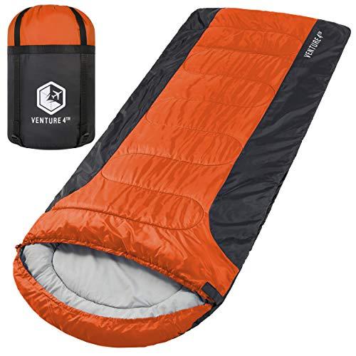 3-Season XXL Sleeping Bag, Extra Large – Lightweight, Comfortable, Water Resistant, Backpacking...
