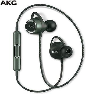 AKG N200 WIRELESS入耳式无线蓝牙耳机挂脖运动跑步重低音 绿色