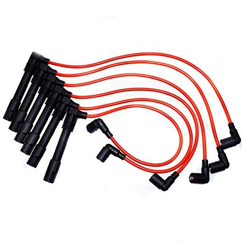 Juego de cables de bujía de encendido para Audi A4 A6 Quattro VW Passat 2.8L 250079696