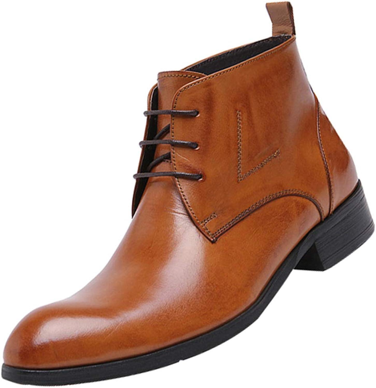RSHENG Herren Stiefel Ankle Stiefel Klassische Retro Lace Up Derb