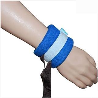 AA-SS-Finger Control Mitts Muñeca restringida Muñeca médica Correa de Tobillo Banda de sujeción Restricción de extremidades con Paciente Cama Anciano