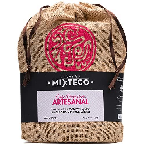 Ensueño Mixteco – Café Molido Arábica | Tostado con Aroma de Cacao y Almendra | Natural, Sabor Suave - Producción 100% Artesanal