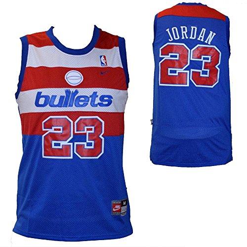NBA Replica Maglia Canotta Michael Jordan - Washington Bullets - Colore Blu - Taglia L
