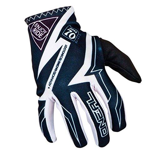 O'Neal Matrix MX Handschuhe RACEWEAR Schwarz Weiß Motocross Enduro Offroad, 0388R-5, Größe XL