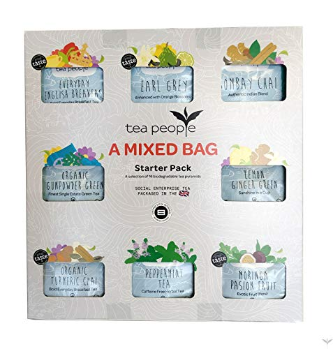 Tea People A Mixed Bag, 16 Individually Wrapped Tea Pyramids in an Attractive Gift Box, 200 g