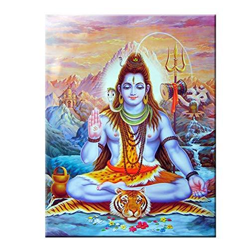 A&D Shiva Lord Leinwandbilder an der Wand Hindu-Götter Wandkunst Leinwand Hinduismus Wandplakate und Drucke Bild Wohnkultur -60x80cmx1pcs- Kein Rahmen