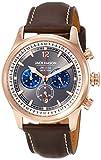 Jack Mason Men's Chronograph Watch Nautical Brown Italian Leather Strap JM-N102-026