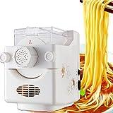 Máquina para hacer pasta Jasemy totalmente automática, 160 W, color blanco, máquina cortadora con pinza para espaguetis, lasaña, mejor máquina de pasta, fácil limpieza y uso