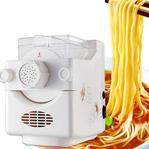 Jasemy Macchina per la pasta completamente automatica 160 W bianco macchina per la pasta con morsetto per spaghetti, pasta lasagne migliore macchina per pasta, pasta facile da pulire e da usare