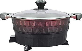 DYXYH Hot Pot électrique électrique à chaud des ménages Hot Pot Smoke Free Non Stick Fryer Ragoût Friture Marmite