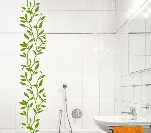 Grandora W1301 Wandtattoo Blumenranke Fliesenaufkleber grün (BxH) 22 x 58 cm