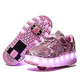 YSTHEZ Rodillo Skate Shoes Boys Girls Sneakers USB Roller Roller Skate Zapatos...