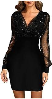 HX fashion Abiti da Sera Signore E E Abito di Sfera Vestito Lungo Cocktail Party Dress Glitter Dress Wrap Dress Abiti da S...