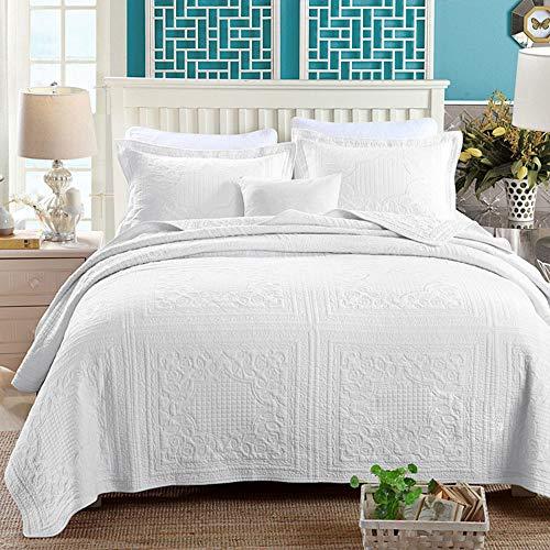 3-Teilige Tagesdecke Bettdecken Aus 100prozent Baumwolle, Ganzjahres-Premium-Jacquard-Bettwäsche Aus Baumwolle, Kingsize-Bettdecke Aus Damast Ultra Soft Microfiber Bed Quilts Steppdecke,1,250*270cm