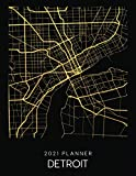 2021 Planner Detroit: Weekly - Dated With To Do Notes And Inspirational Quotes - Detroit - Michigan (City Map Calendar Diary Book 2021)