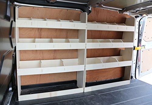 Estantería de madera contrachapada doble para coche, ligera