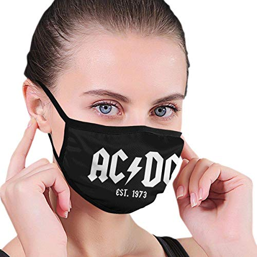 MIGAGA Unisex Multi Usage Face Cover ACDC Rock Band Breathable Mouth Dust Removal Anti-Pollution Face Cover Windproof and Dustproof