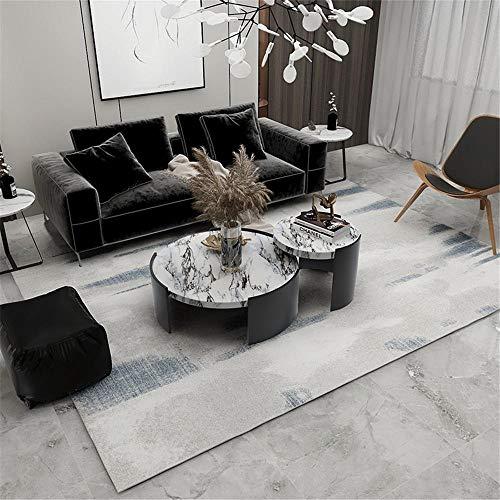 La Alfombra recibidor Pasillo Entrada Alfombra Suave de diseño Minimalista Azul grisáceo fácil de Limpiar Room Decor Alfombra habitacion Bebe 140X200CM