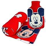 Manta Polar y Bolsa de Agua Caliente, Pack de Mickey Mouse – Manta Infantil...