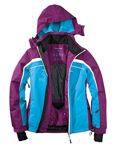Damen Skijacke Snowboardjacke 40 lila-blau-weiss