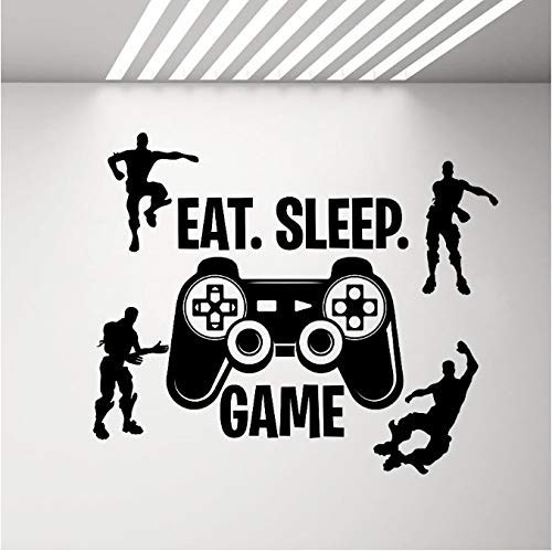 Videojuego Wall Decal Ps4 Gamer Character Vinilo Adhesivos de pared Dormitorio Decoración del hogar Sala de estar Removalbe Xbox Carteles 67X57 Cm