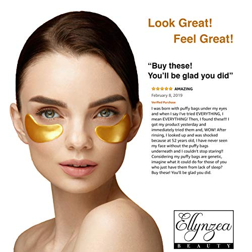(24 PAIRS) Rejuvenating Under Eye Mask for Puffy Eyes - Dark Circles Under Eye Bags Treatment - 24k Gold Anti-Aging Under Eye Patches - Under Eye Pads w/Hydrating Gel - Wrinkle Care for Women and Men
