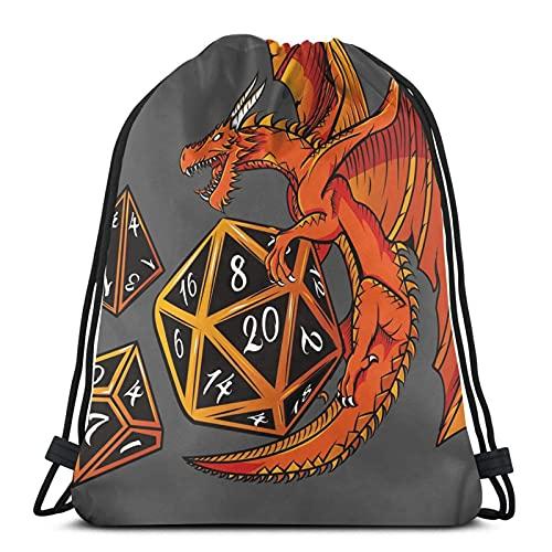 Competitive & Games & The Dice -, D4, D10, Drawstg Bag Sports Fitness Bag Travel Bag Gift Bag