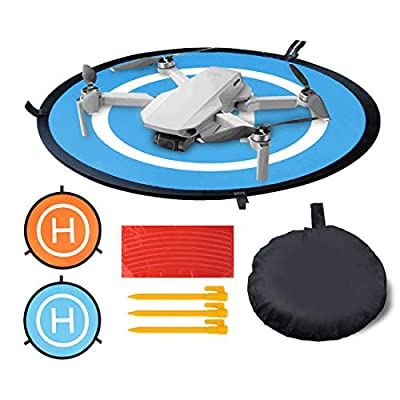 OSELEE Drone Landing Pad, Dji Spark Accessories Universal Waterproof Portable Drone Landing Pad Folding for Mavic Mini/DJI Mavic Pro Phantom 2/3/4 Pro etc from Sel