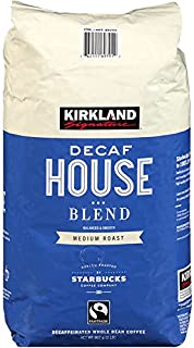 Kirkland Signature - Roasted by Starbucks ~ Decaf House Blend Coffee 2 lb. (Pack of 2) Total 4 Lb.