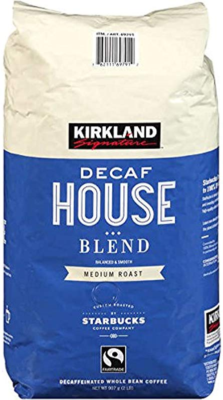 Kirkland Signature Roasted By Starbucks Decaf House Blend Coffee 2 Lb Pack Of 2 Total 4 Lb
