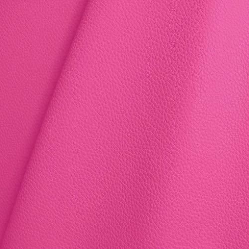TOLKO Kunstleder Polsterstoff Meterware als Robuster Premium Bezugsstoff, Möbelstoff zum Nähen und Beziehen, 140cm Breit (Pink)