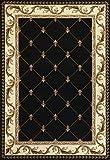 KAS Oriental Rugs Corinthian Collection Fleur-De-Lis Area Rug, 2'3' x 3'3', Black